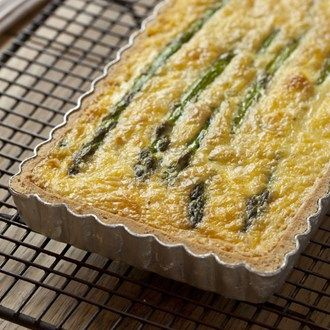 Asparagus, Goat's Cheese & Smoked Bacon Quiche - Healthy & Easy Recipes