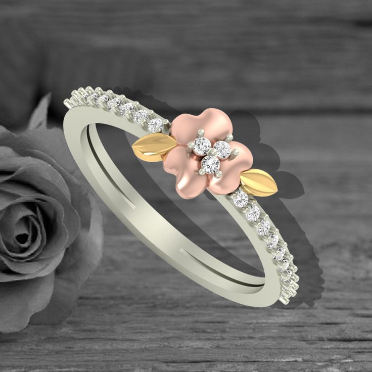 A perfect craftsmanship of rose together with stunning diamonds! Gorgeous new rings have just arrive!  Check them out : https://jewels5.com/Collections/Elite #NewLaunch #NewArrival #NewCollection #NewRings #DiamondRings #Elite #DesignerJewellery
