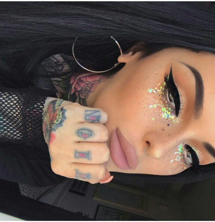 Glam glitter makeup