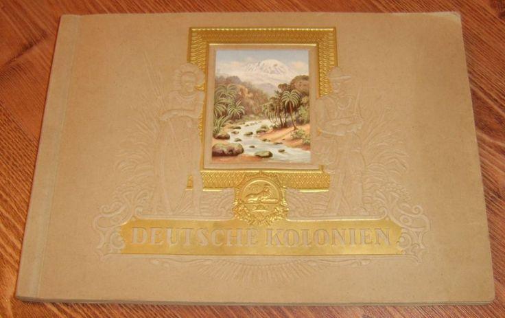 Germany DEUTSCHE KOLONIEN German Colonies album w. 270 cigarette cards 1936