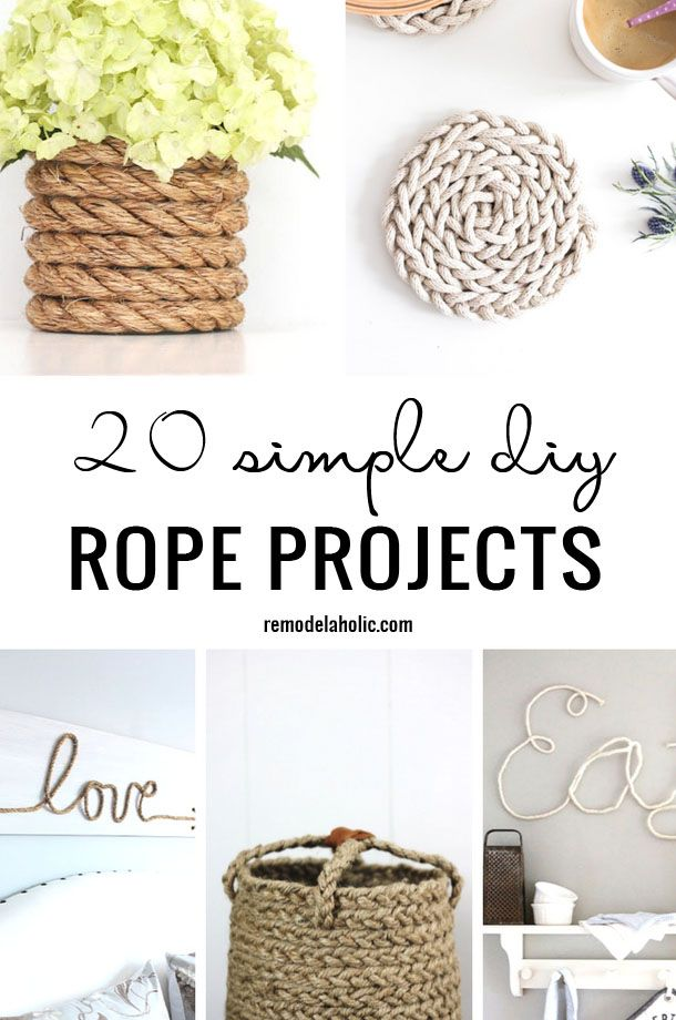 17 best images about remodelaholic favorites on pinterest for Rope projects