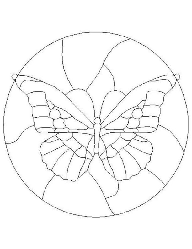 ★ Stained Glass Patterns for FREE ★ glass pattern 287 ★