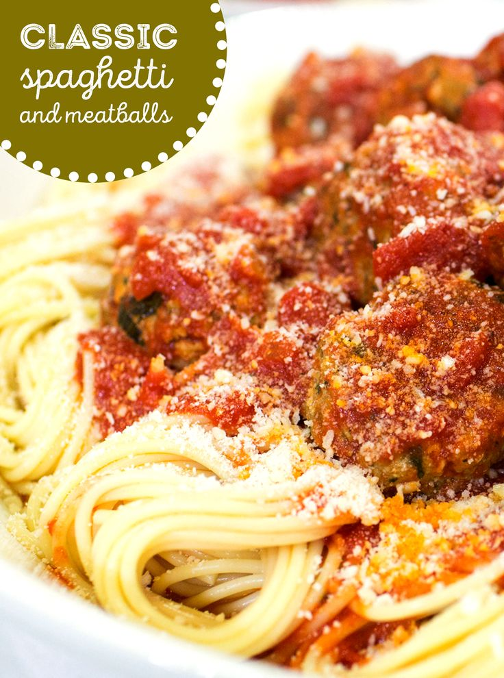 Make authentic spaghetti and meatballs with homemade sauce and meatballs.