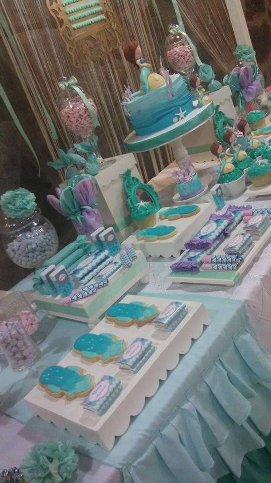 Mermaid birthday party treats! See more party planning ideas at CatchMyParty.com!