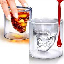 Sihirli Şeffaf Cam Kafatası Kupalar Kahve Fincanları Çift-katlı Bar Şarap Bira Drinkware Hediye Çay Bardağı(China (Mainland))