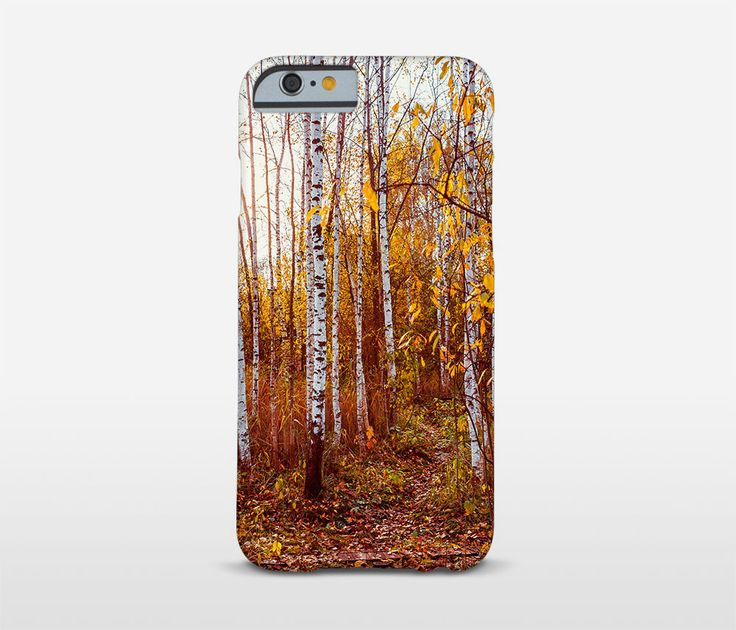 Red Forest iPhone Cases, Nature Photography, Birch Trees, Tree Phone Case, Samsung Case, Moto Cases and more models. by Macrografiks on Etsy