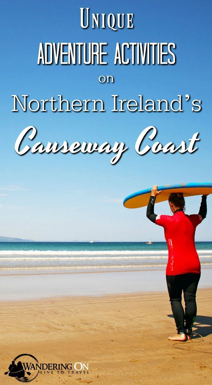 Northern Ireland's Causeway Coast offers some epic adventure activities. Check out this beautiful part of Ireland, where adventure awaits! #Ireland #NorthernIreland #DiscoverNI #VisitCauseway #Adventure #CausewayCoast #activities