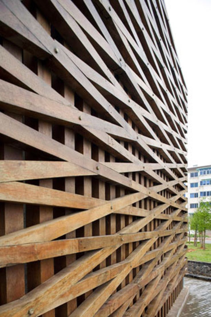 70 best facade fachadas images on pinterest - Wooden cladding for exterior walls ...