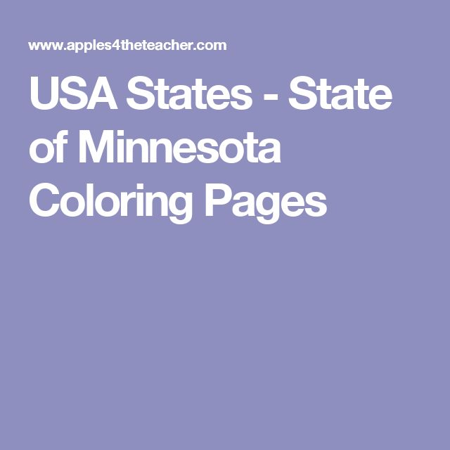 USA States - State of Minnesota Coloring Pages