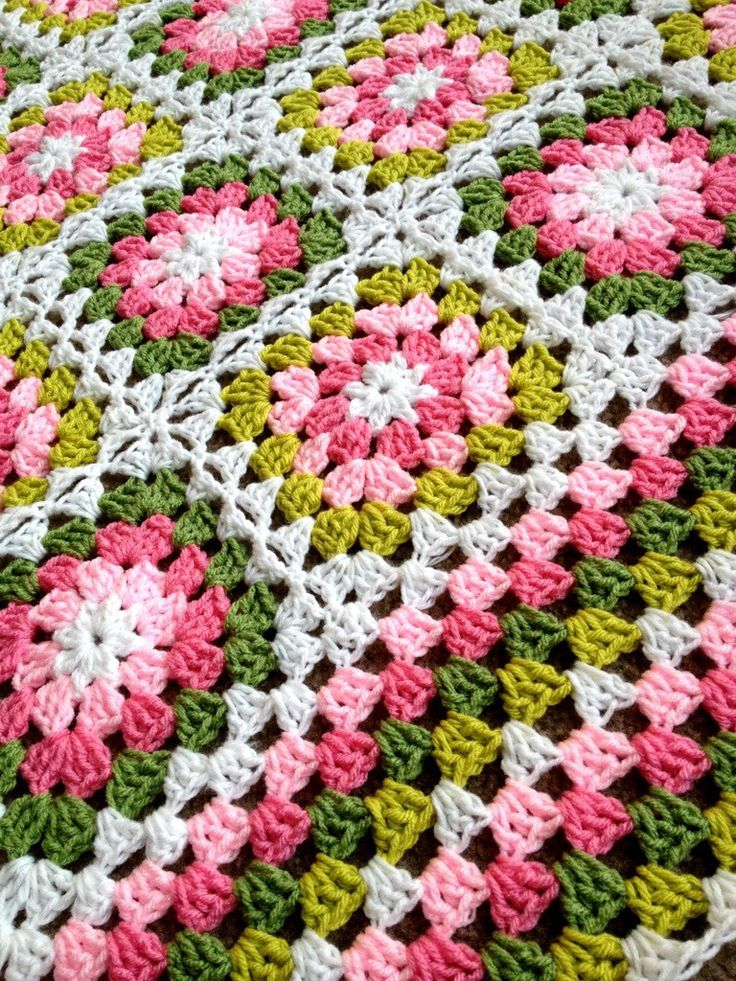 Summer Garden Square from Lucy at Attic24, crocheted by BabyLoveBrand; go to blog and scroll to January 19, 2013 entry.