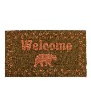 Look at this #zulilyfind! Bear 'Welcome' Coir Rug #zulilyfinds