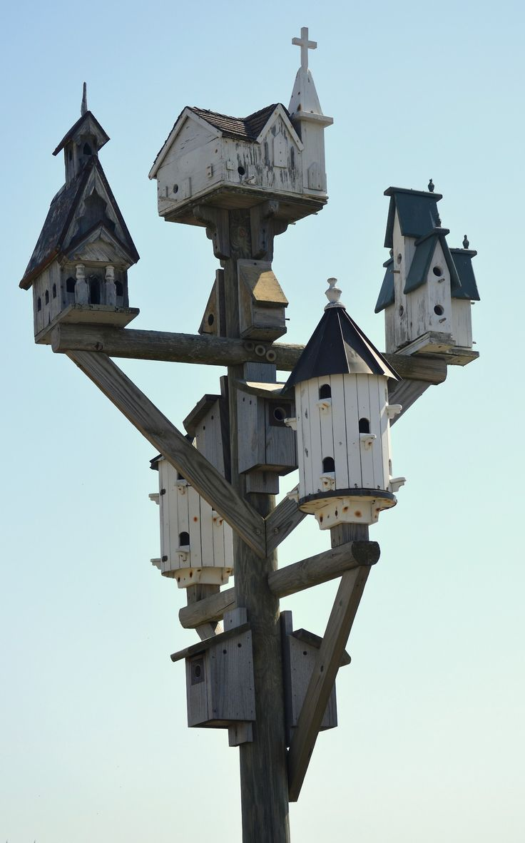 fatchance:  Vacant purple martin house, on the causeway between Nags Head and Roanoke Island, North Carolina.