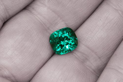 "The word "" Emerald "" is derived ( via Old French: Esmeraude and Middle English: Emeraude ), from Vulgar Latin: Esmaralda / Esmaraldus, a variant of Latin Smaragdus, which originated in Greek: σμάραγδος ( Smaragdos; "" Green Gem "" ) - Earlier Sanskrit: Marakata "" Sea """