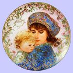 Edna Hibel plate. This great artist really captures maternal love so beautifully.