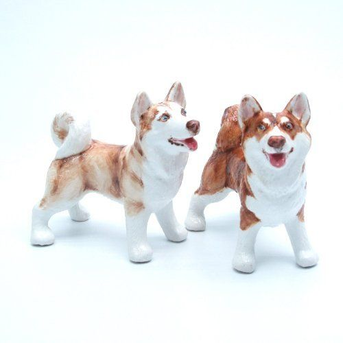 Alaskan Malamute Dog Ceramic Figurine Salt Pepper Shaker 00002 Ceramic Handmade Dog Lover Gift Collectible Home Decor Art and Crafts by Alaskan Malamute - madamepOmm -. $59.00. Alaskan Malamute Dog Lover Ceramic Original Handmade Hand Paint Salt and Pepper Shaker Figurine Ceramic Home Decor Collectibles  Made of ceramic porcelain high fired interior apply clear under-glaze, food safe painted with attention hand painted acrylic paint then apply clear gloss protect...