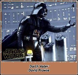 Darth Vader / Luke, yo soy tu padre / Luke, i'm your father / David Prowse / Sebastian Shaw / James Earl Jones / Star Wars SW Cromos / Trilogía Clásica
