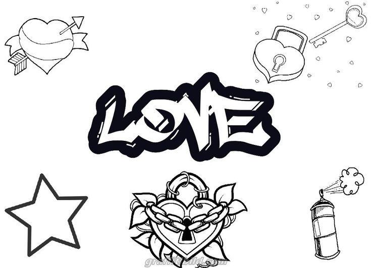 Graffiti Coloring Pages Love Graffiti Ausmalbilder Ausmalbilder Coloring Graffiti Love Pages Graffiti Alphabet Coloring Pages Graffiti