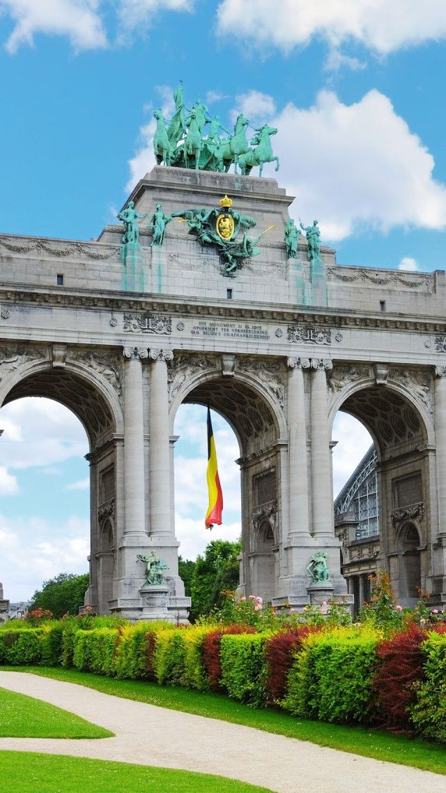 Cinquantennaire Park Brussels Belgium iPhone 5 wallpapers, backgrounds, 640 x 1136