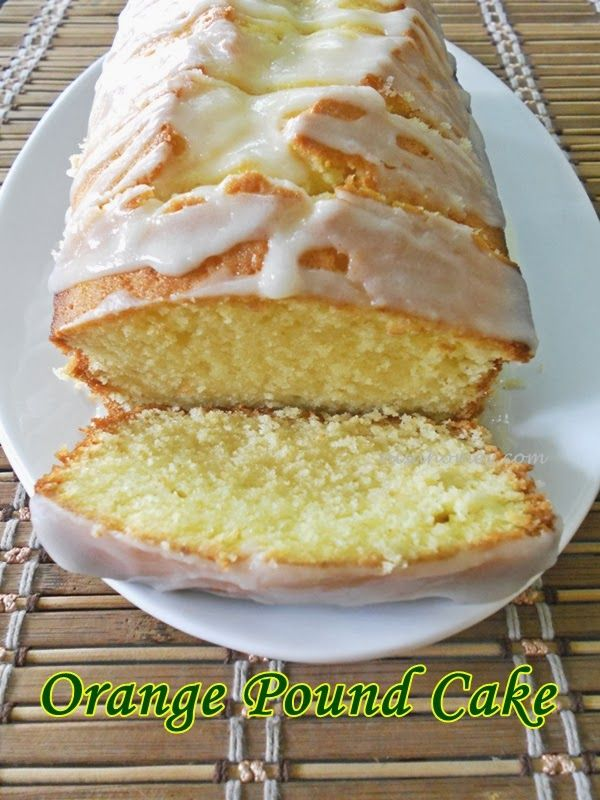 Orange Pound Cake With Orange Glaze...from scratch!! #poundcakes #valentinesday #orangecake #cakes