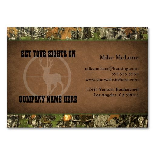 149 best hunter business cards images on pinterest business cards hunters camo business cards colourmoves