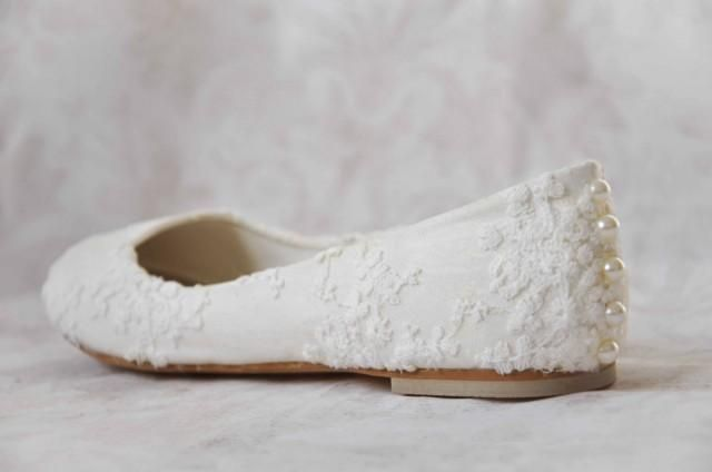 Wedding Dresses With Flats : Ideas about lace wedding flats on