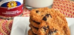 Chocolate Chip Treasure Cookies « Baking BitesChips Treasure, Chips Cookies, Chocolate Chips, Chocolates Chips, Treasure Cookies, Baking Bites, Bananas Oatmeal Cookies, Baking Ideas, Condensed Milk