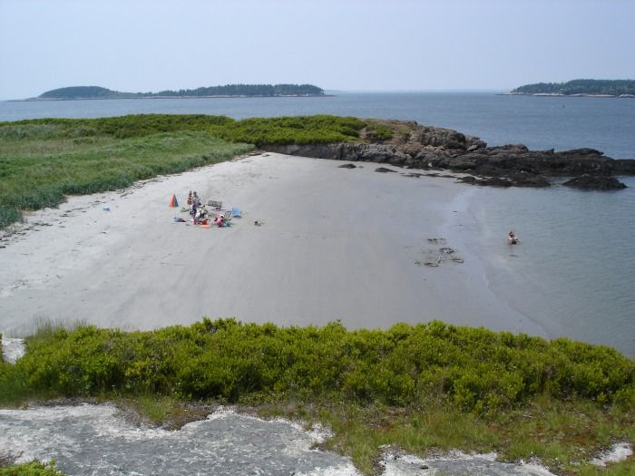 nude hermit camping island