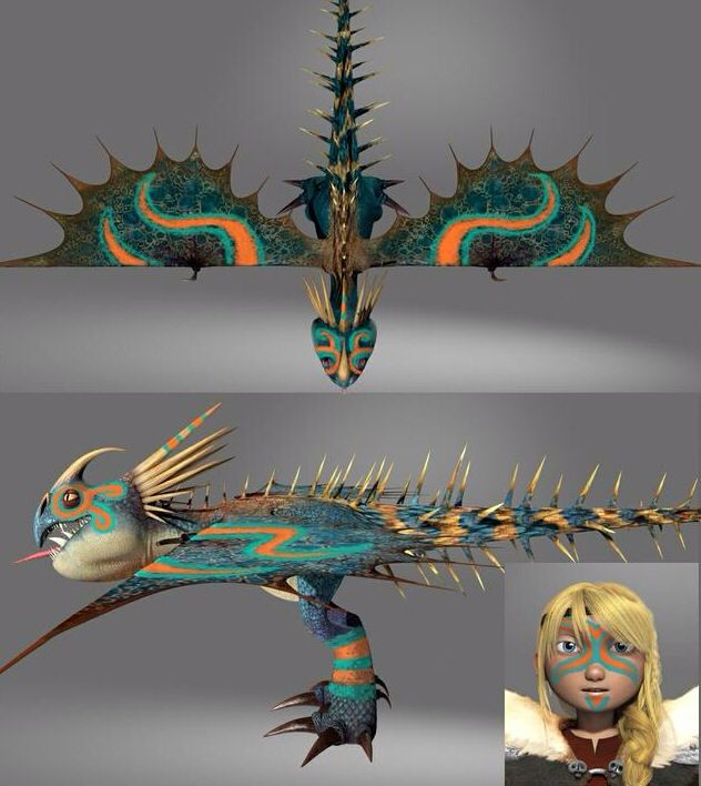 Astrid and Stormfly CGI in the making