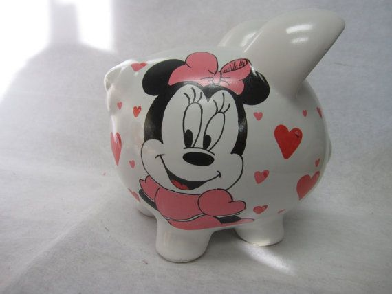 Personalized Piggy Bank Minnie Mouse by ThisLittlePiggieBank