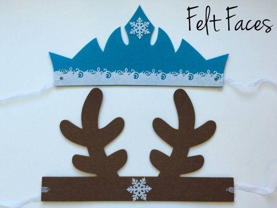 SET OF 12 Disney Frozen Tiara Sven Antlers Frozen by KSFeltFaces