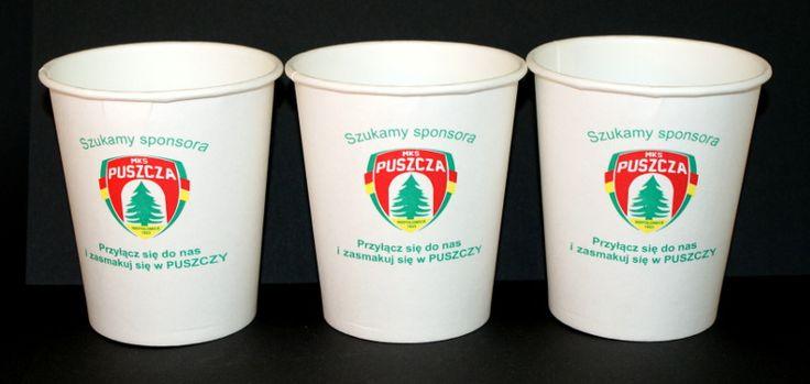 papierowe kubki do kawy z przykrywką /tampo druk - 3 kolory/ karolla.com
