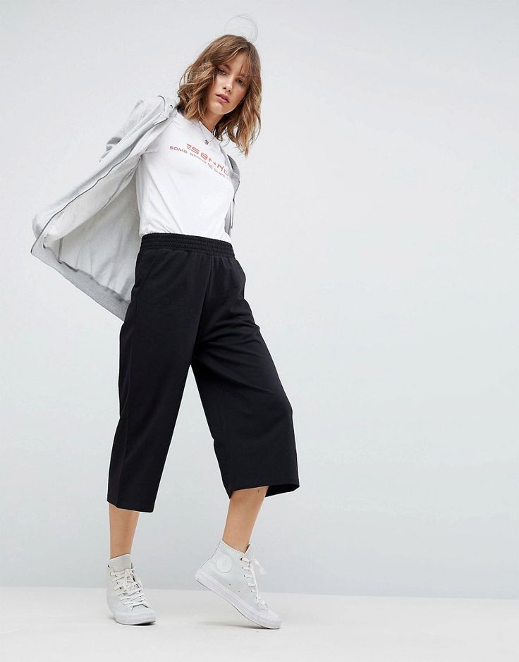 ASOS Ultimate Culotte Joggers - Black