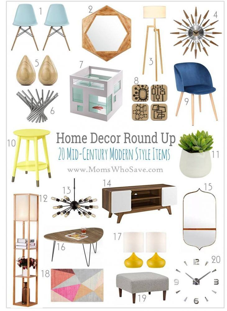 Modern Home Accessories Decor 20 Affordable Midcentury Modern