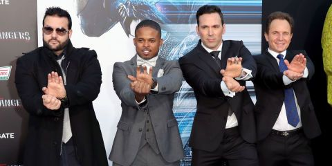 Austin St. John, Walter Jones, Jason David Frank, David Yost, Power Rangers Premiere