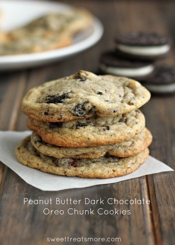 Peanut Butter Dark Chocolate Oreo Chunk Cookies from @Kristy {Sweet ...