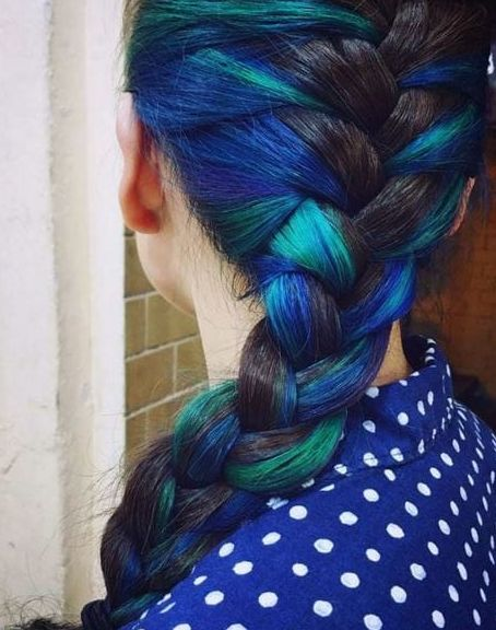 This is an insanely trendy look right now! There are so many colorful possibilities, and they're all stunning.
