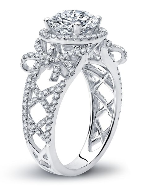 Laced Up Diamond Engagement Ring