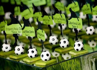 Escort cards for a sport themed event