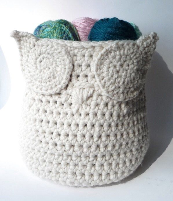 Owl Basket Crochet Pattern Home Decor Owl Decor Storage Bin Basket Container Patterns Gift Basket Owl Baby Shower Basket Owl Pattern Crochet by zxcvvcxz on Etsy https://www.etsy.com/listing/202750688/owl-basket-crochet-pattern-home-decor