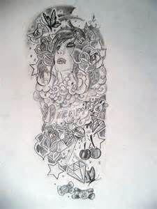 Half sleeve girl design by ~velocity1991