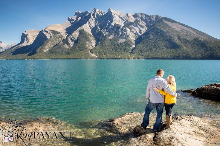 Banff engagement photographer, banff e-session, banff outdoor portrait, fall engagement photos, autumn engagement photos, www.kimpayantphotography.com