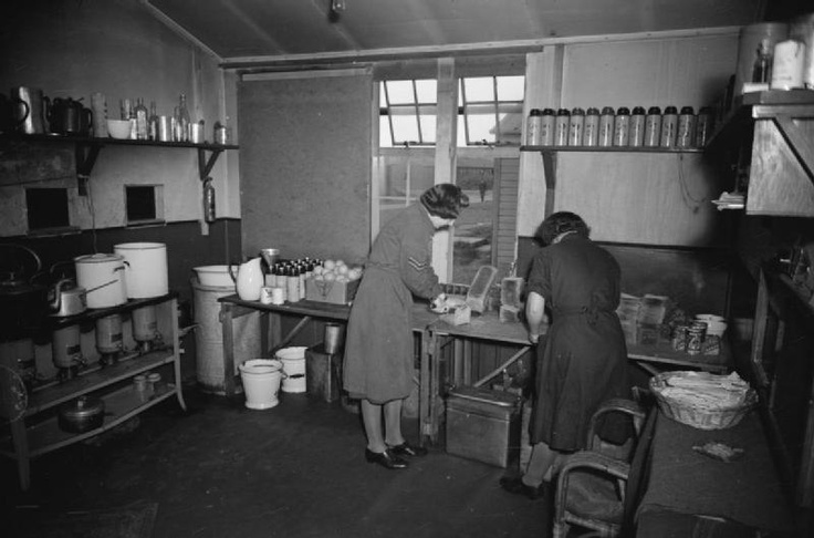 Two WAAF cooks at St Eval share the task of preparing rations for No 502 Squadron Whitley crews. Thermos flasks were squadron property, and those in the photo are all marked accordingly – No 502′s stand ready on the left, and those belonging to No 58 Squadron, also based at St Eval at this time, can be seen lining the shelf on the right. Note too the box of oranges, an imported luxury, often unavailable.: American History, Belong, 1940S Obsession, Important Luxury, 502 S Stands, 58 Squadron, Photo, Based, Thermos Flasks