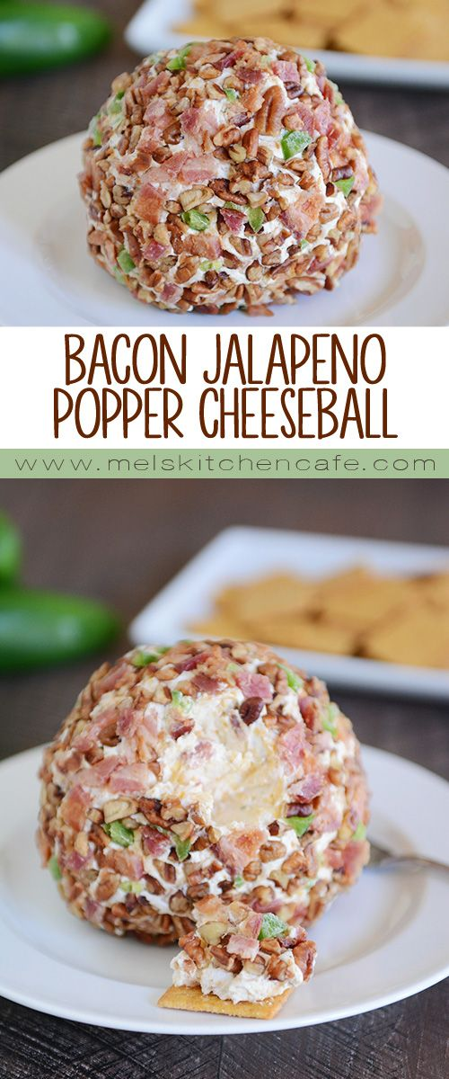 This Bacon Jalapeno Popper Cheeseball is simply cheeseball perfection.