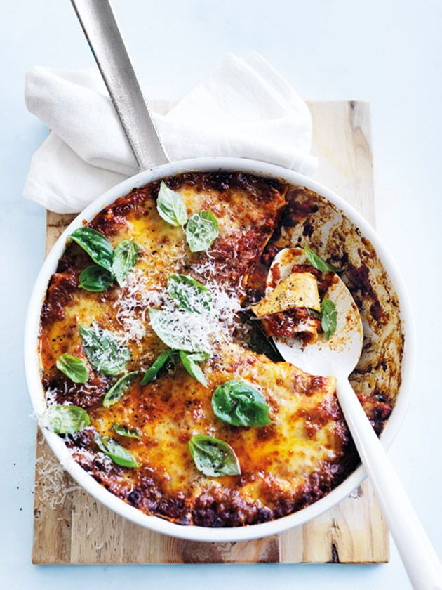 spicy chorizo pan lasagne