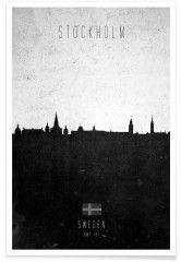 Stockholm Contemporary Cityscape - Premium Poster