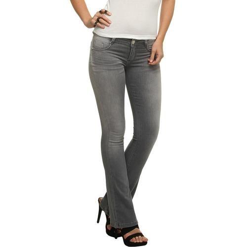 Calça Jeans Sawary Boot Cut Acinzentado