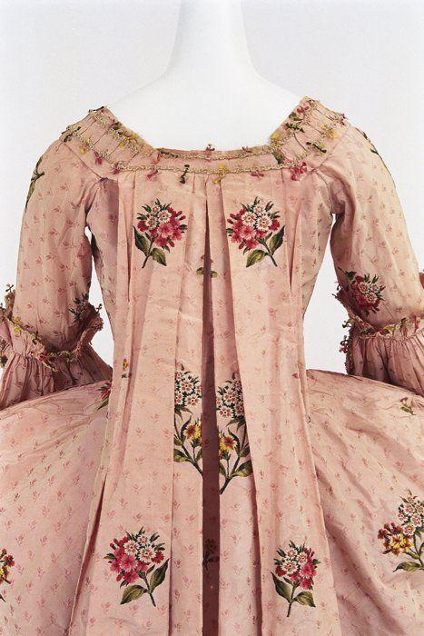 Robe a la francaise, 1760-70  From the Bunka Gakuen Costume Museum