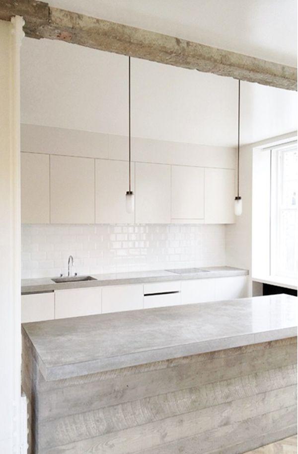 KITCHEN // concrete + white