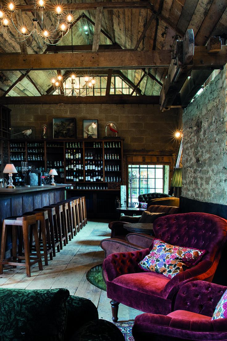Charles Armchair in The Mill Bar at Soho Farmhouse   Soho House Inspiration