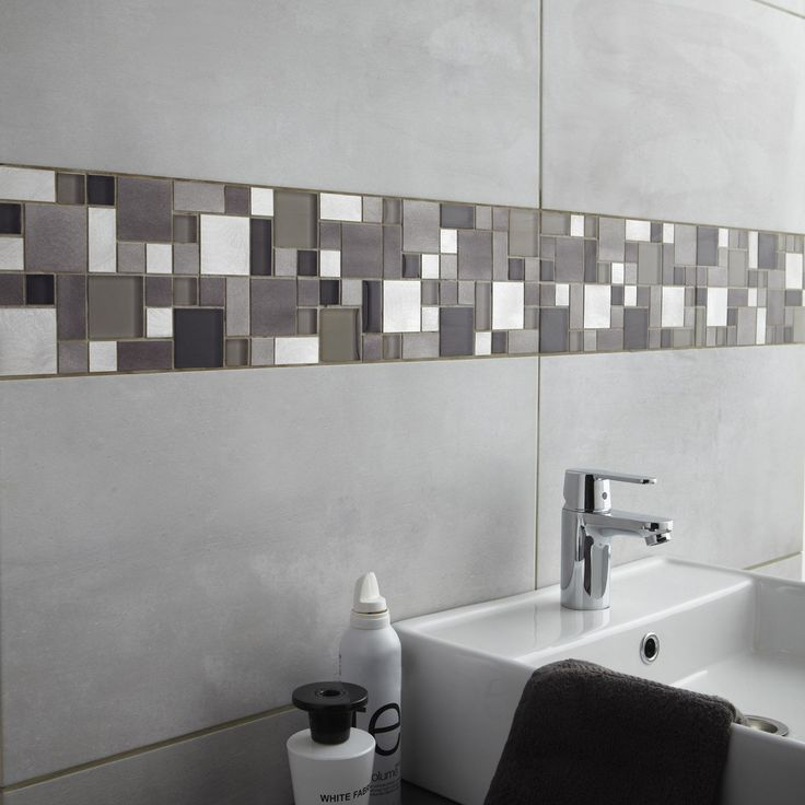 23 best Salle de bain images on Pinterest Bathrooms, Bathroom and - carrelage mur cuisine moderne